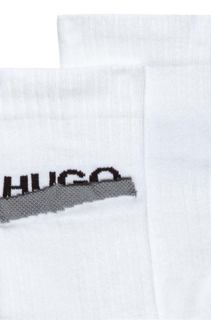 Quarter-length ribbed socks with new-season logo