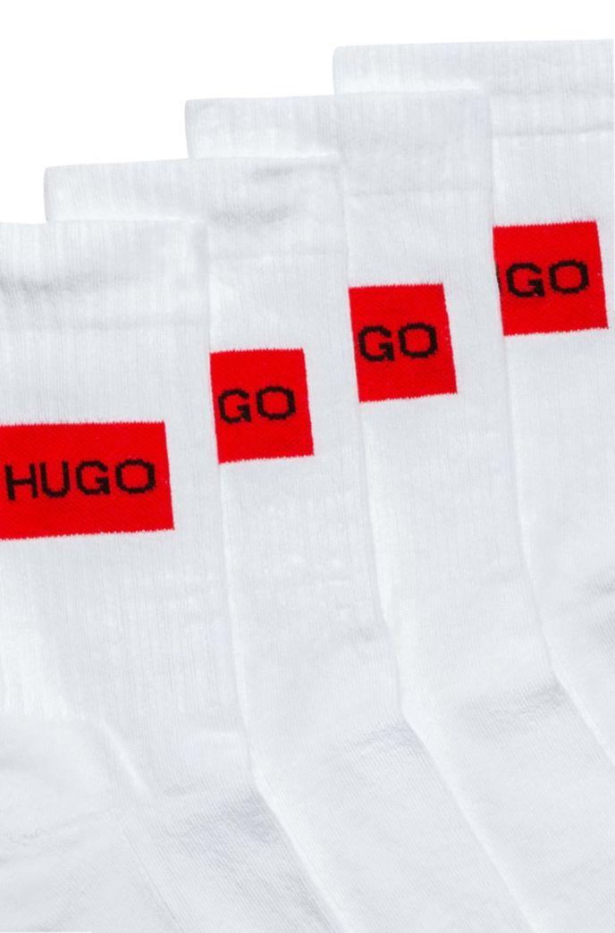 Two-pack of quarter-length socks with logo design