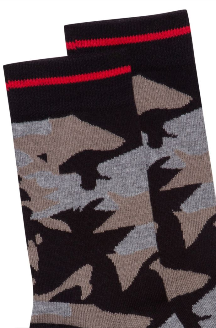 Quarter-length socks with new-season camouflage pattern