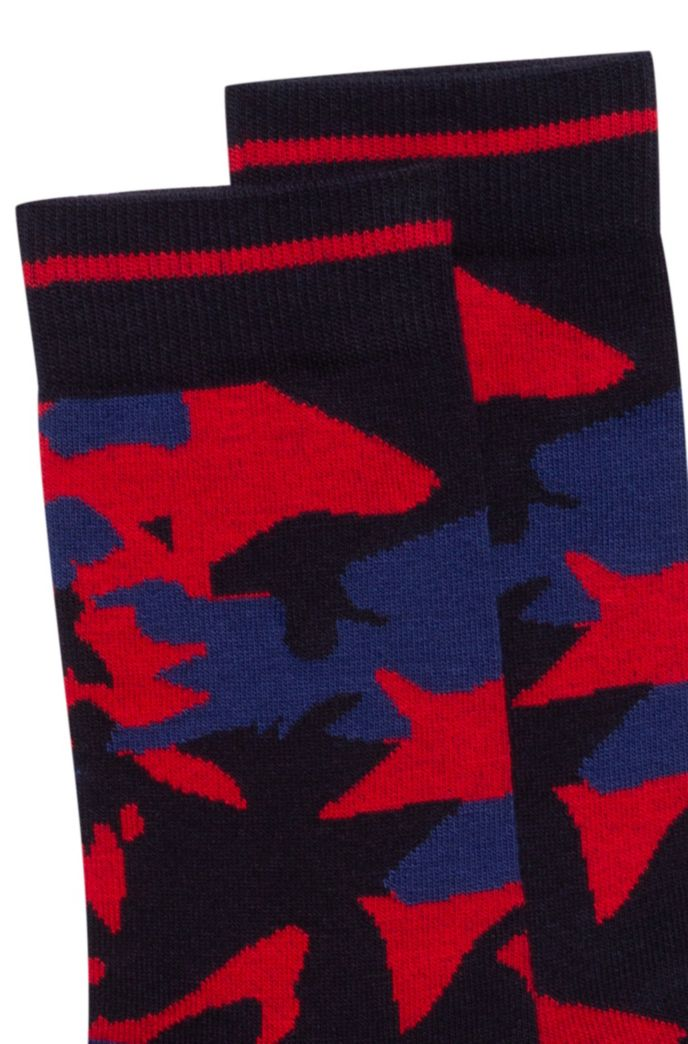 Quarter-length socks with new-season camouflage pattern