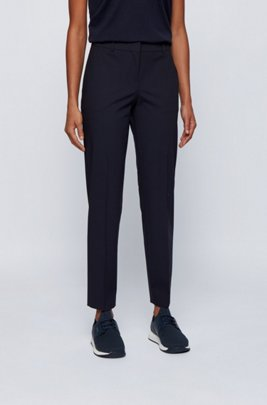 Relaxed-fit trousers in a crease-resistant wool blend, Light Blue