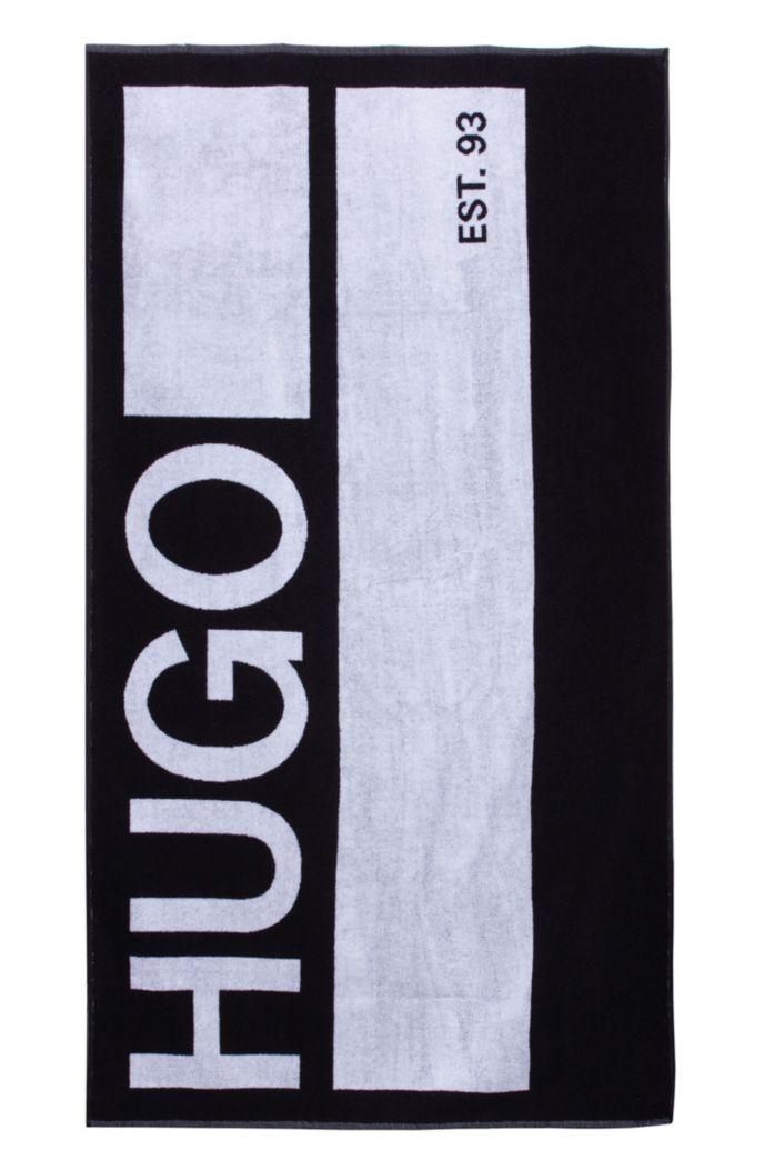 Badetuch aus Baumwoll-Terry mit großem Logo