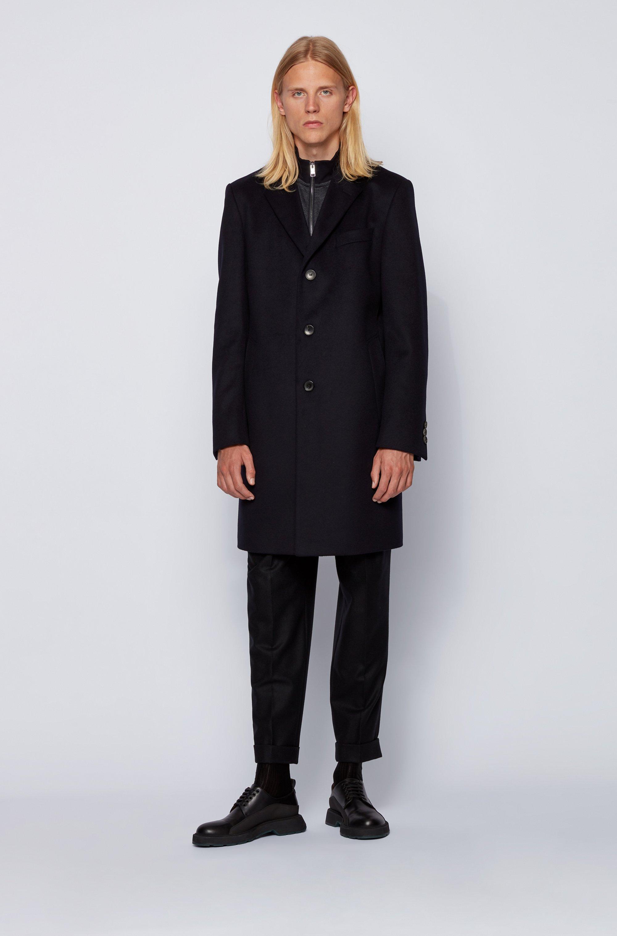 Regular-fit cotton-blend sweatshirt with tonal structure