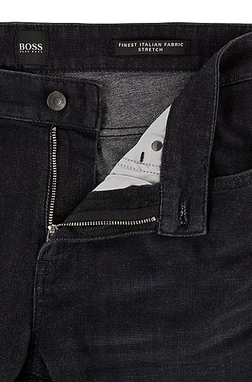 羊绒质感意大利牛仔布黑色修身牛仔裤,  003_黑色