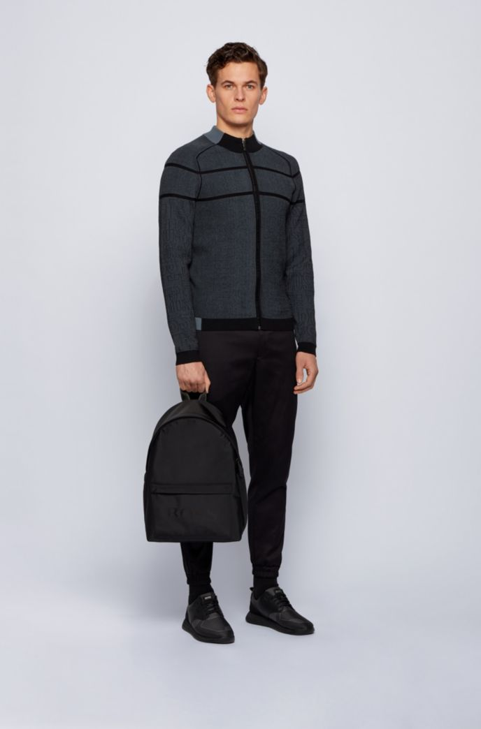 Logo backpack in structured nylon