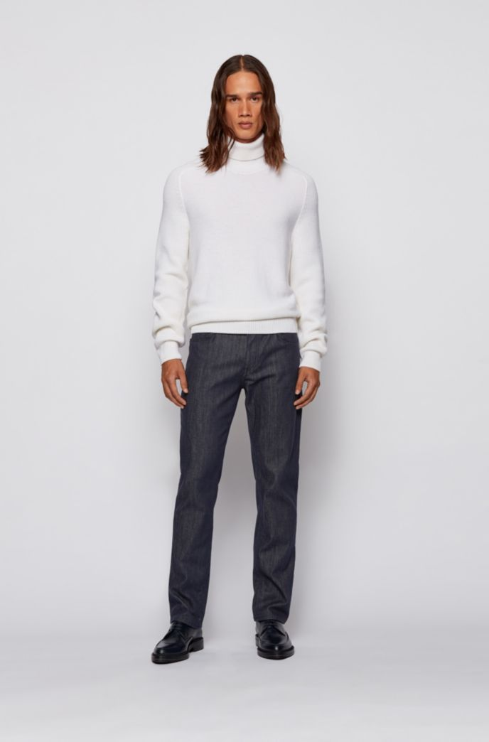 Relaxed-fit jeans in stay-blue stretch denim
