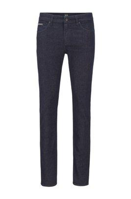 Slim-fit jeans in blue Italian denim with wool, Dark Blue