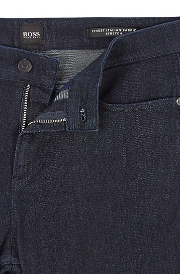 意大利羊毛牛仔布修身牛仔裤,  410_海军蓝色