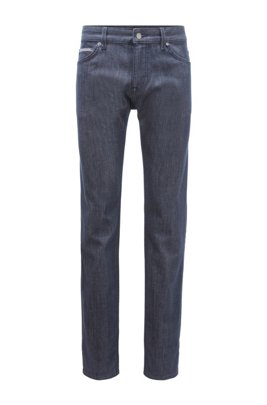 Regular-fit jeans in stay-blue comfort-stretch denim, Dark Blue
