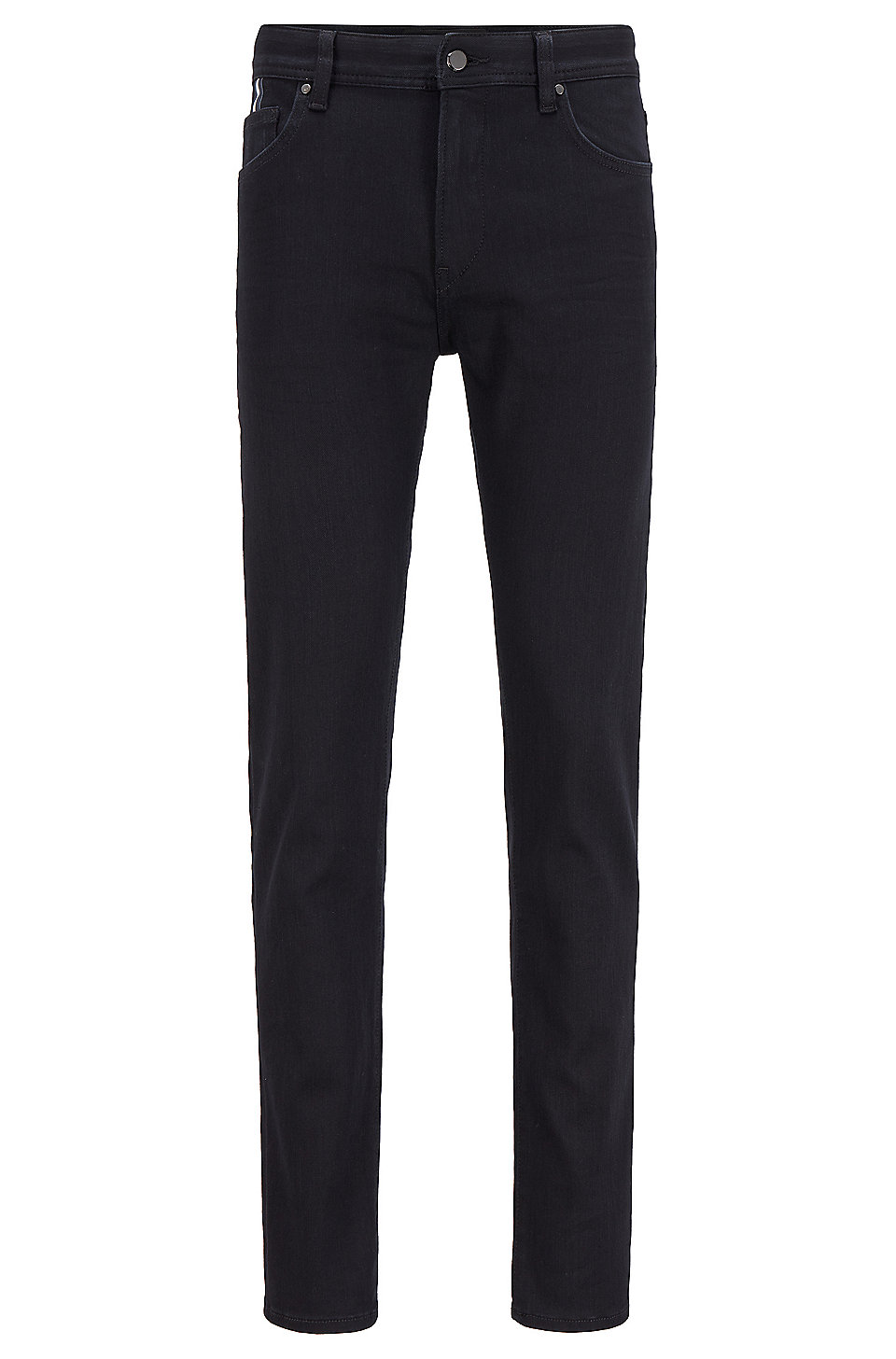 BOSS - Tapered-fit jeans in black-black Italian denim
