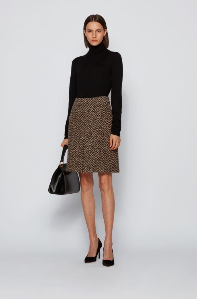 High-waisted skirt in a virgin-wool blend