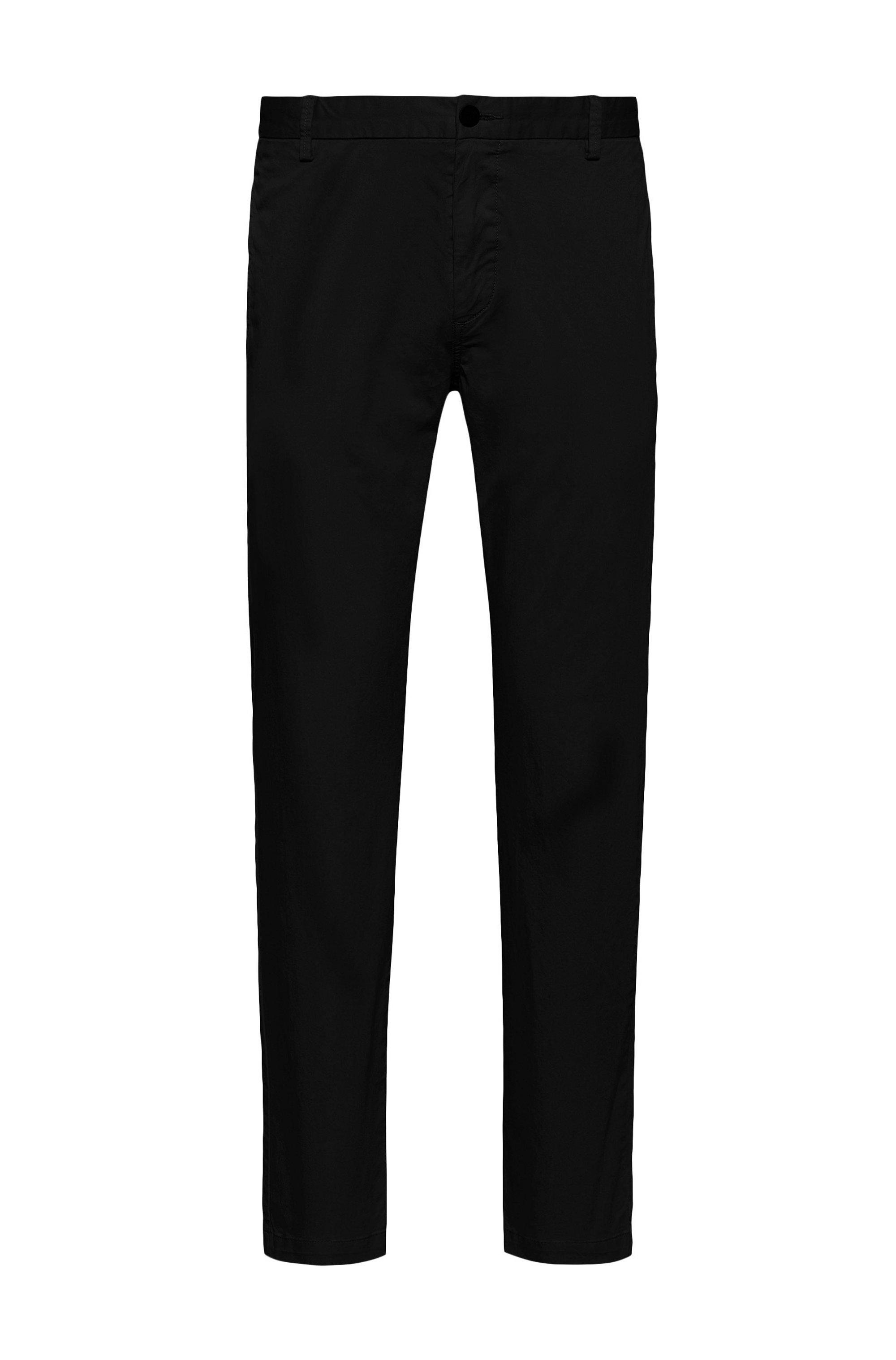 Chino Slim Fit en gabardine de coton stretch, Noir