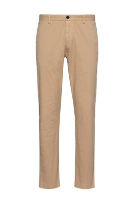 Chino Slim Fit en gabardine de coton stretch, Beige