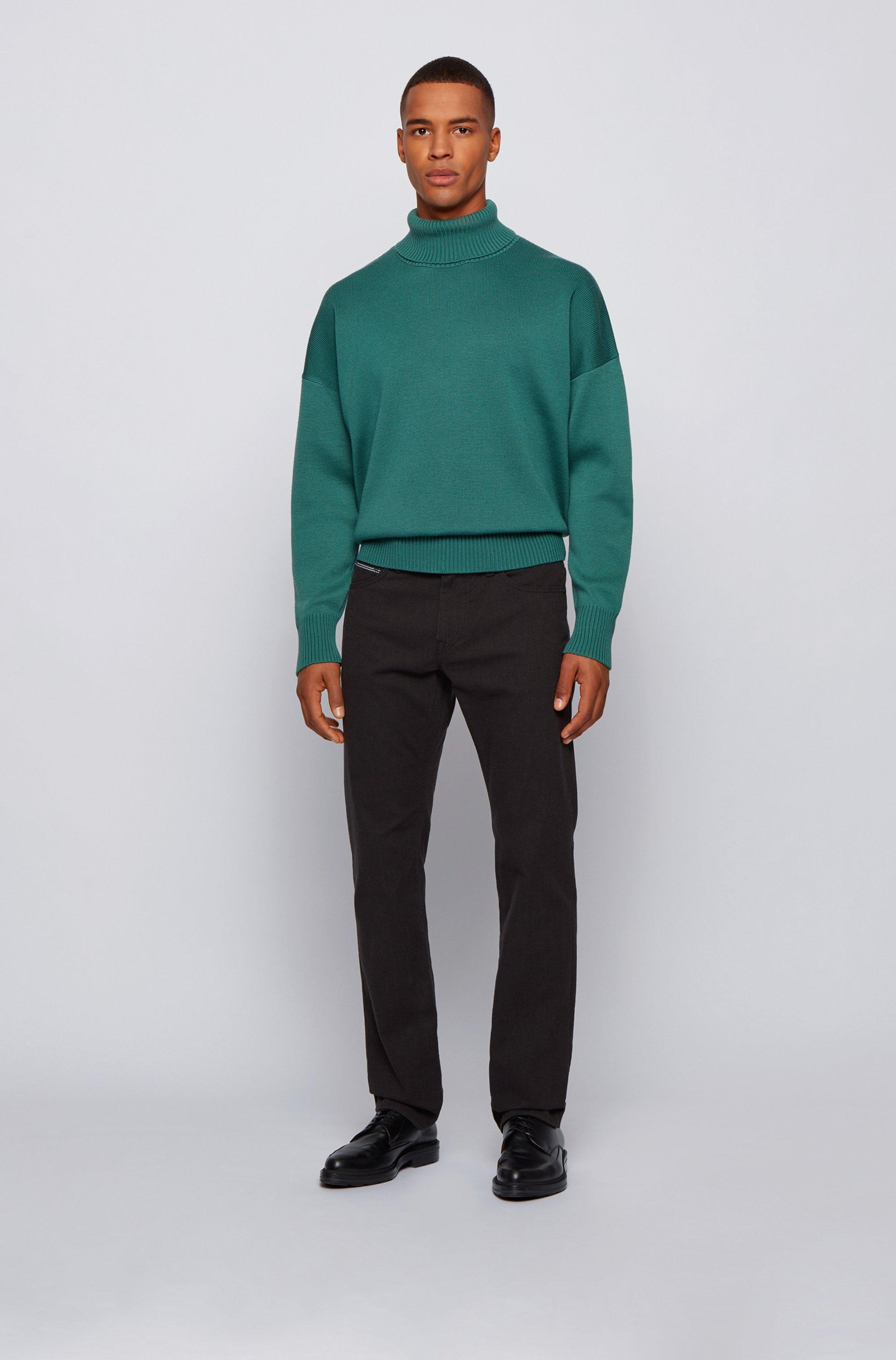 Regular-Fit Jeans aus komfortablem Stretch-Denim mit feinen Punkten