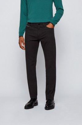 Regular-Fit Jeans aus komfortablem Stretch-Denim mit feinen Punkten, Hellgrau