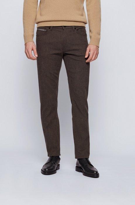 Regular-fit jeans in pinpoint comfort-stretch denim, Light Beige
