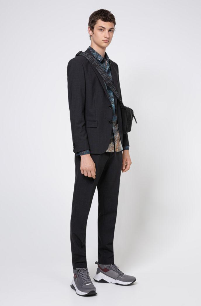 Extra Slim-Fit Hemd aus Baumwolle mit Marble Print