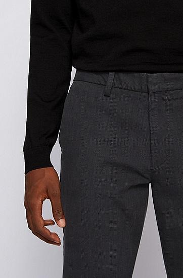修身版弹力细点棉休闲裤 ,  061_淡灰色