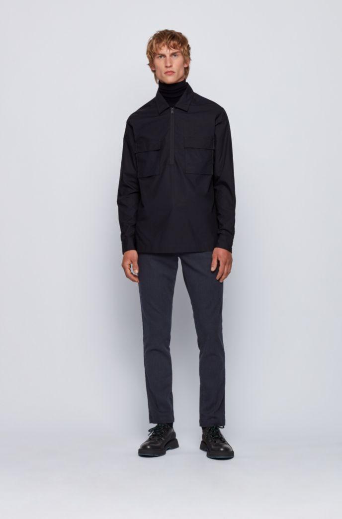 Chino Slim Fit en tissu pinpoint de coton stretch
