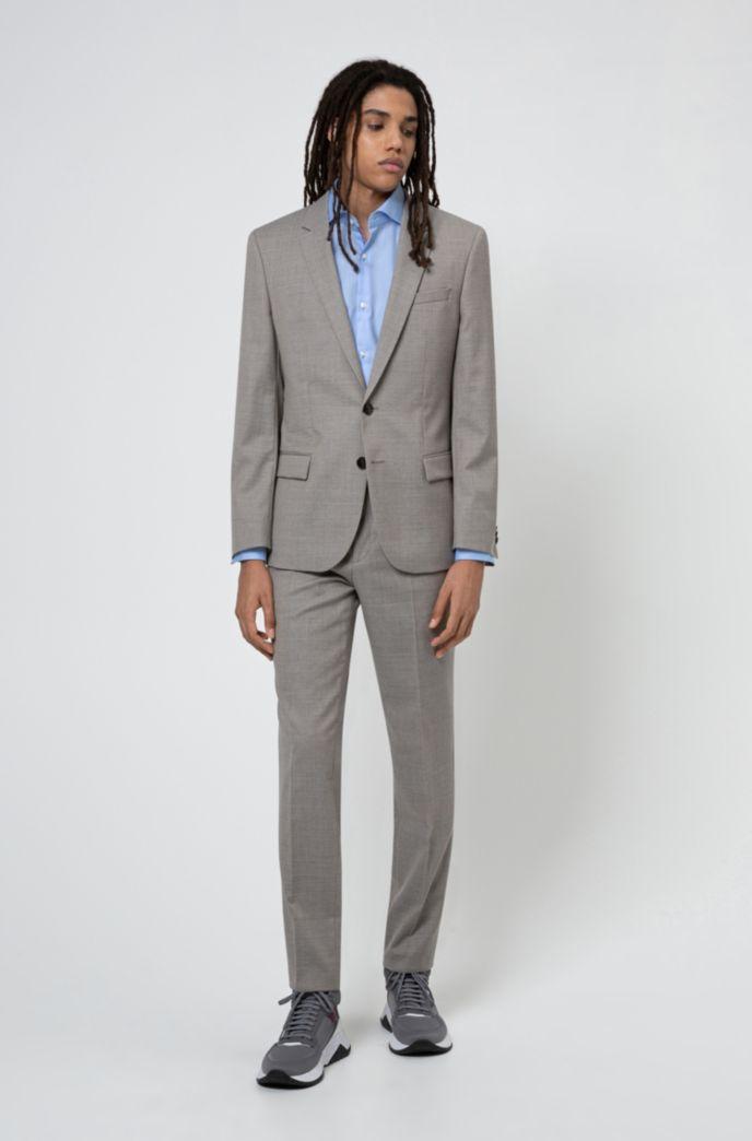Slim-fit overhemd van fijngeweven katoen met gespreide kraag