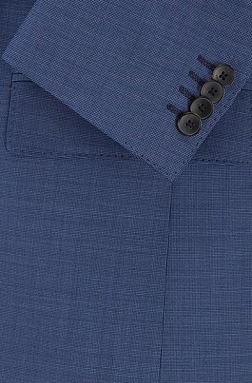 意大利羊毛修身西服套装,  417_海军蓝色