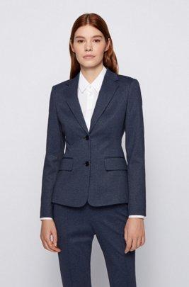 Regular-fit jacket in printed Japanese jersey, Patterned