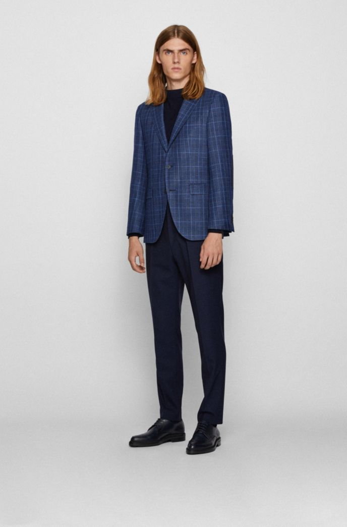 Regular-fit jacket in checked cloth