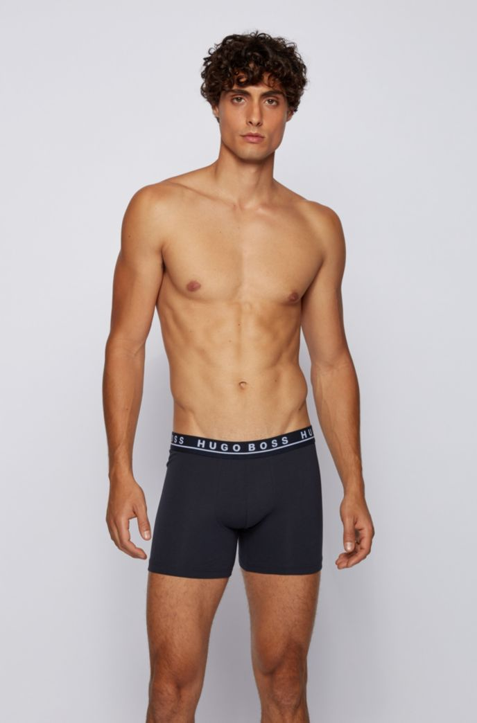 Three-pack of boxer briefs in stretch cotton