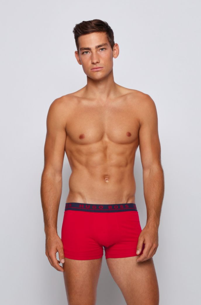Lot de trois boxers courts en coton stretch