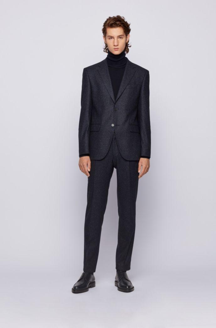 Regular-fit jacket in a tweed wool blend