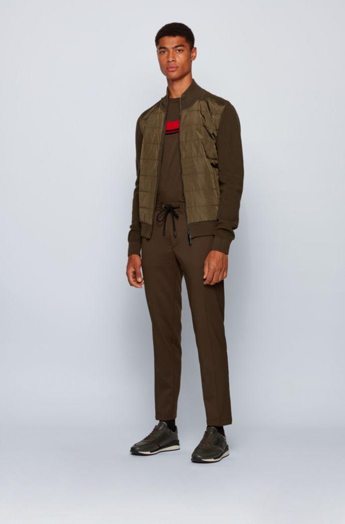 Pantalon Slim Fit avec taille à cordon de serrage et finitions emblématiques