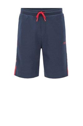 Shorts mit Tunnelzugbund und Kontrast-Details, Gemustert