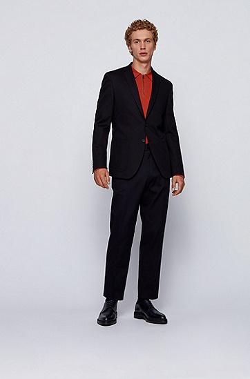 弹力棉宽松版型七分裤,  402_暗蓝色
