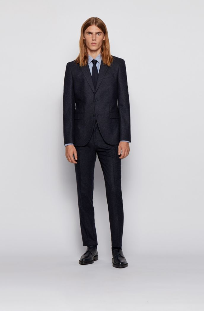 Slim-fit shirt in stretch Oxford cotton