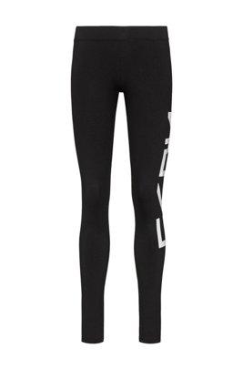 Slim-fit broek met het logo van het nieuwe seizoen, Zwart