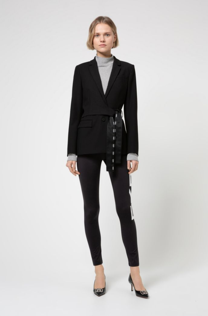 Slim-fit trousers with new-season logo