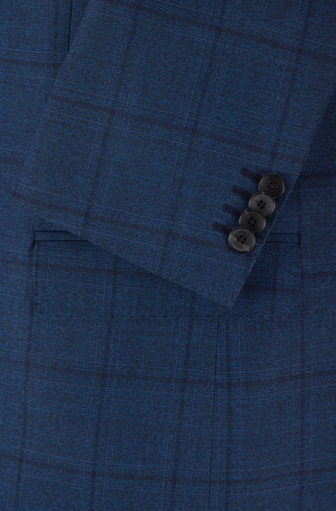 Slim-fit pak van geruite scheerwol