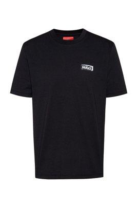 Camiseta con estampado gráfico de algodón Recot²®, Negro