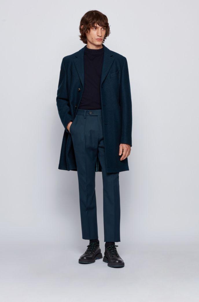 Manteau élégant Slim Fit en jersey de laine mélangée