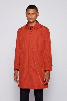 Water-repellent coat with monogram lining, Light Orange