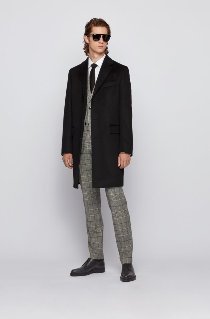 Slim-fit blazer coat in pure cashmere