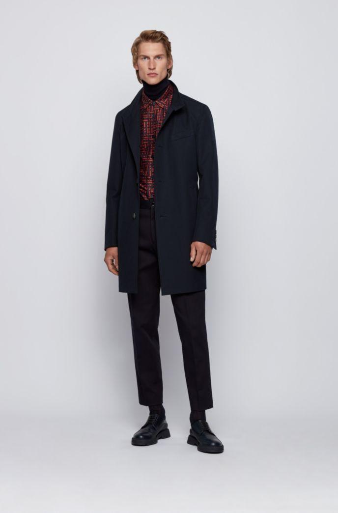Manteau Slim Fit en coton déperlant