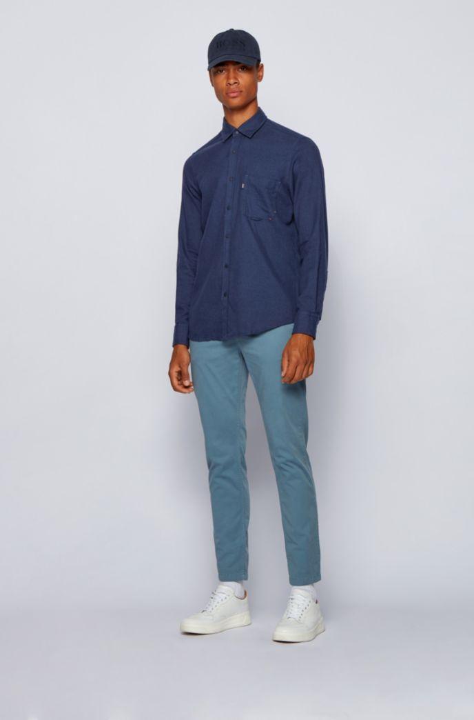 Regular-Fit Hemd aus meliertem Baumwoll-Flanell