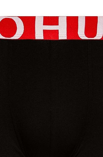 徽标提花裤腰弹力平纹布运动短裤,  001_黑色