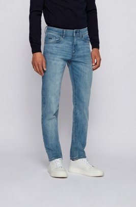 Vaqueros slim fit en tejido denim superelástico azul medio, Azul