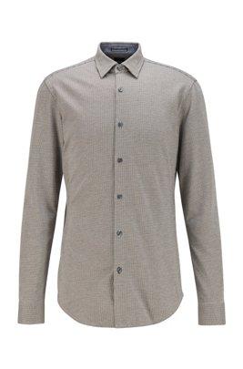 Chemise Slim Fit en jersey de coton à motif, Gris