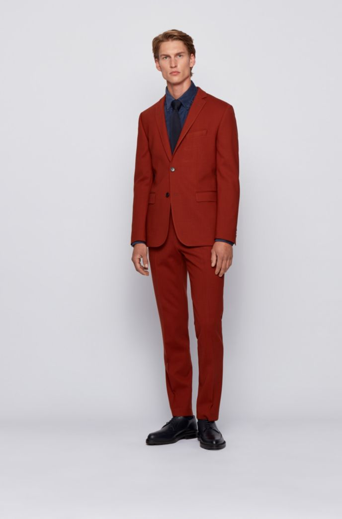 Slim-fit overhemd in corduroy van stretchkatoen