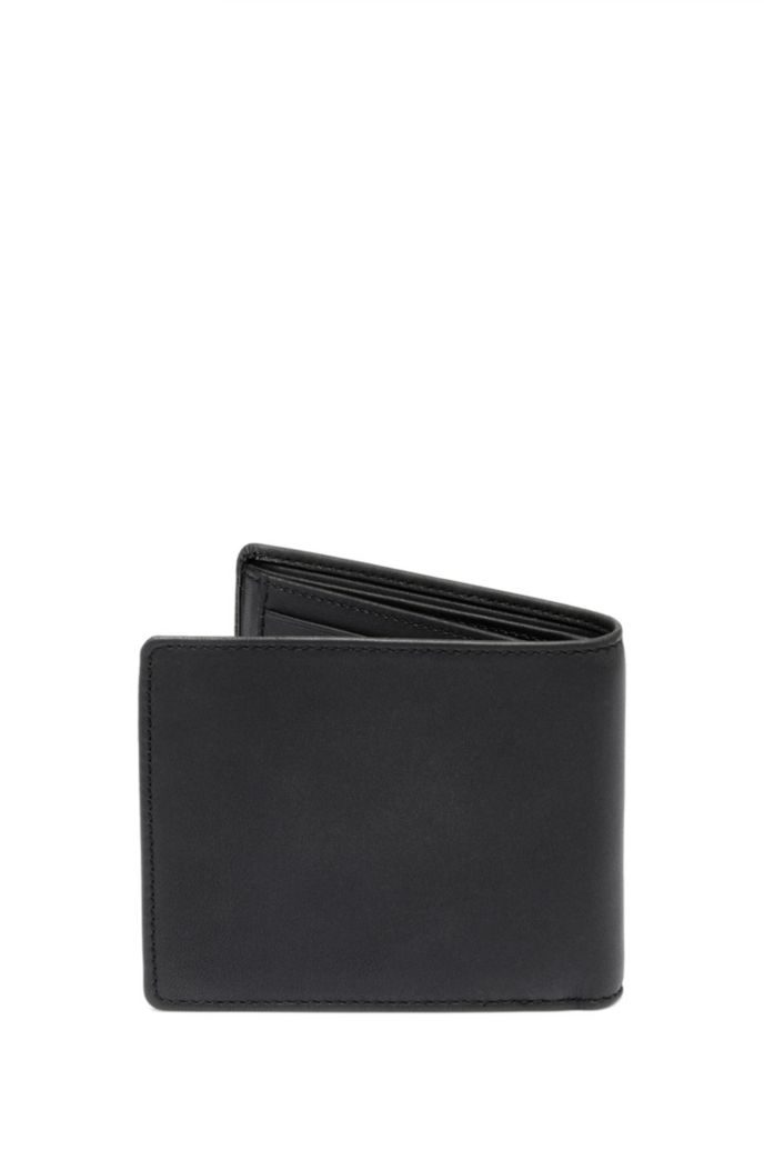 Matte-leather trifold wallet with new-season logo