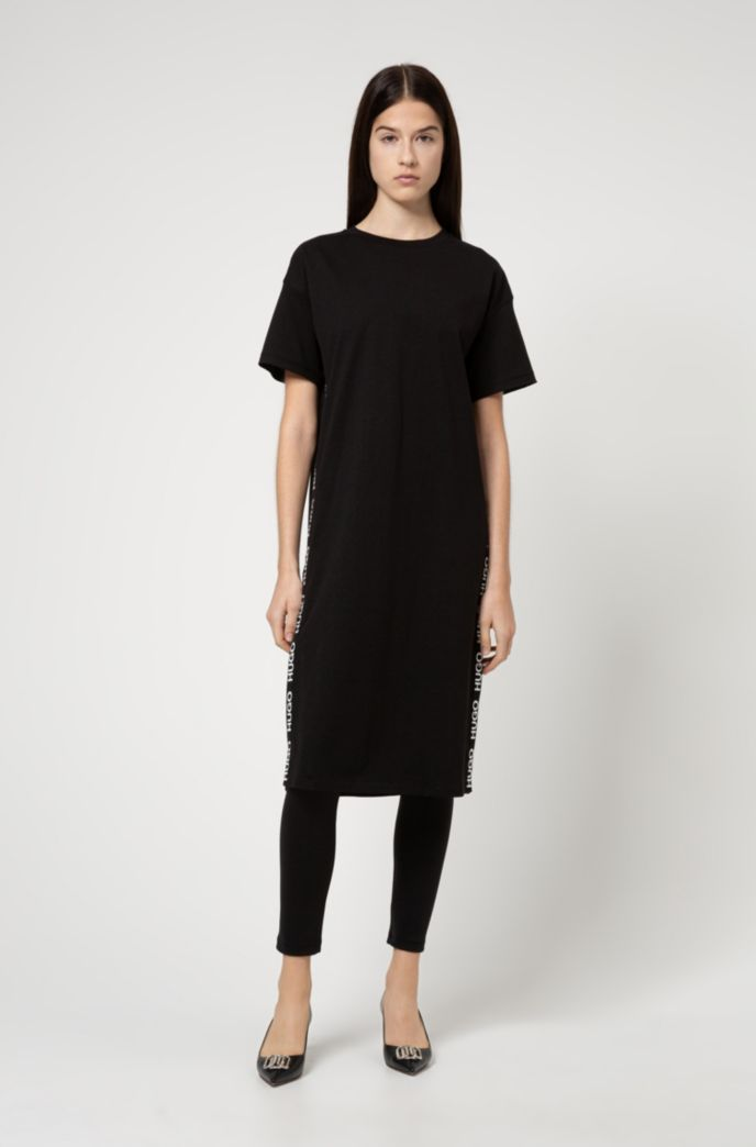 Relaxed-fit dress in organic cotton with logo detailing