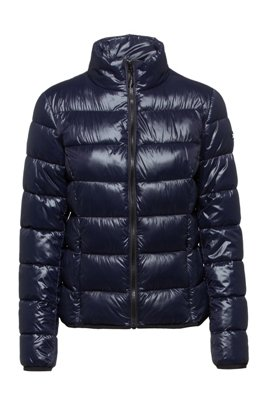 Packable quilted jacket with recycled fibres, Dark Blue